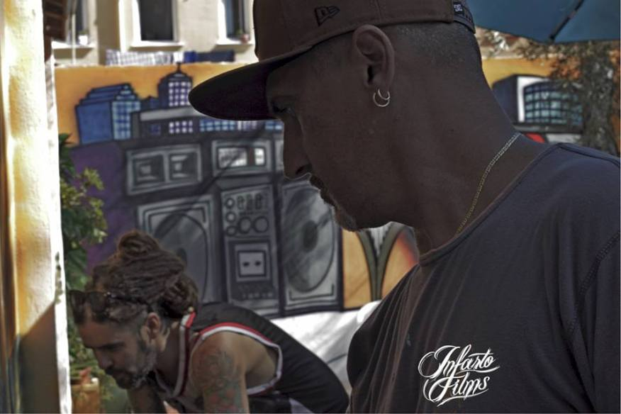 Tom Rock, Rudi y Dolar One (Exhibición Graffiti)