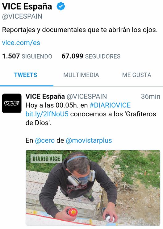 Diario Vice España Dolar One Grafitero de Dios Canal 0 Movistar + plus