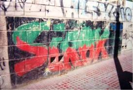 The First Graffiti - Plaza de la Pipa (Alicante)