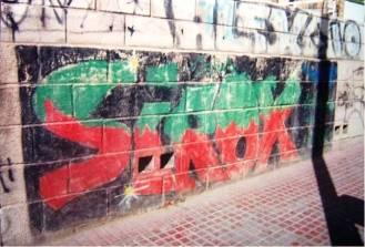 El primer graffiti - Plaza de la Pipa (Alicante)