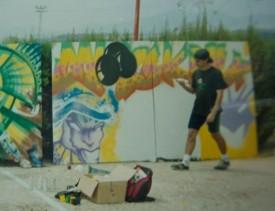 Kapi pintando (Barcelona)