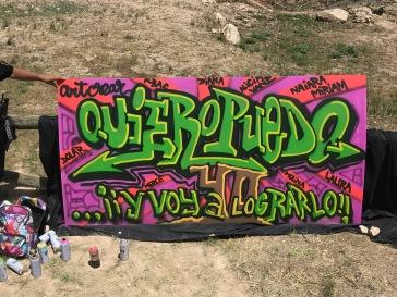 Graffiti para las alumnas de IES Enric Valor de Monovar con Art Crear de Novelda