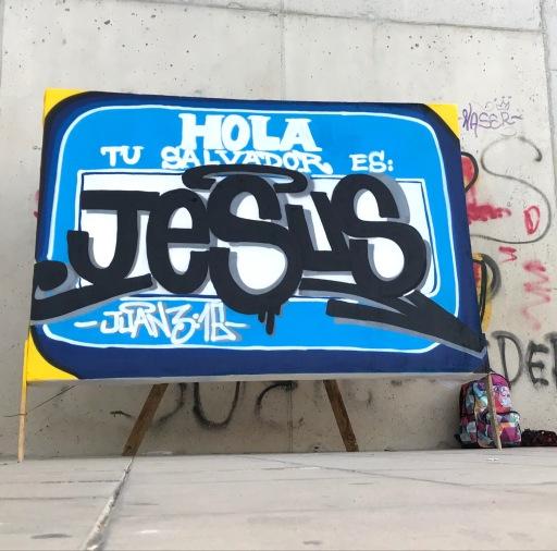 Graffiti en Alcoy por Dolar One