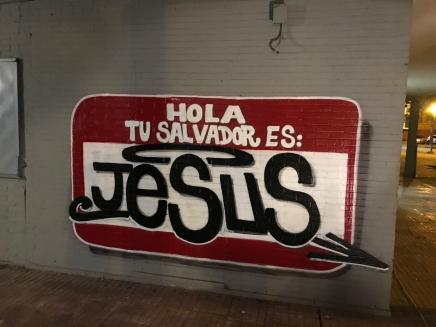 HOLA TU SALVADOR ES JESUS PINTADO EN EL POLIGONO SUR DE SEVILLA POR DOLAR ONE 3000 VIVIENDAS 2
