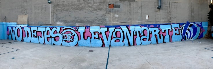centro de acogida de menores lucentum alicante graffiti pintado por dolar one street art dolar, one, dolarone old school diagrama fundación