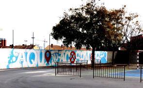 COLEGIO NAZARET ALICANTE DOLAR ONE GRAFFITI ACOSO ESCOLAR