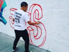 HOLA TU SALVADOR ES JESÚS en Iztapalapa Ciudad de México - Pintado por Dolar One