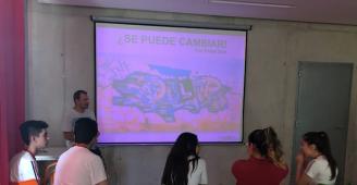Actividad con PR4 del Colegio Oratorio Festivo y Policía Local de Novelda