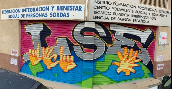Graffiti en la Sede de FIBESORD Alicante